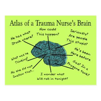 Atlas of a Trauma Nurse's Brain Postcard