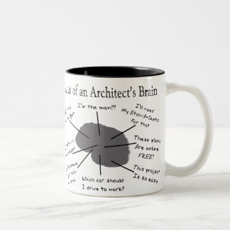 Atlas of an Architect's Brain Two-Tone Coffee Mug