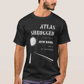 atlas shrugged dark worn T-Shirt