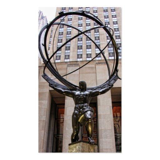 Atlas Statue, Rockefeller Center, NYC Business Card Templates