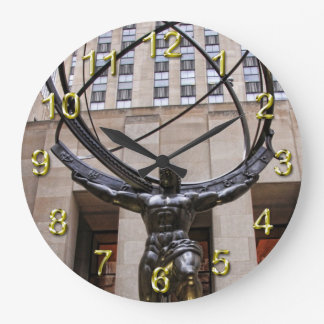 Atlas Statue, Rockefeller Center, NYC Clock