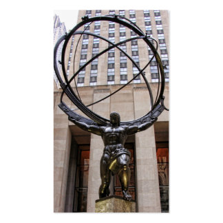 Atlas Statue, Rockefeller Center, NYC Pack Of Standard Business Cards