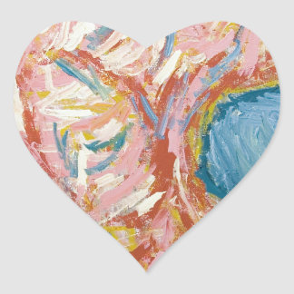 Atlas's Back and Shoulders(abstract expressionism) Heart Sticker