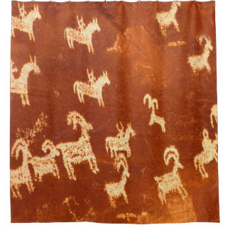 Atlatl Native American Shower Curtain