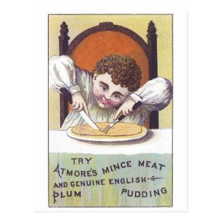 Atmores Plum Pudding Postcard
