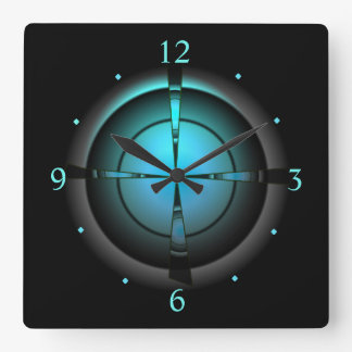 Atmospheric in Green/Aqua/Black > Wall Clock