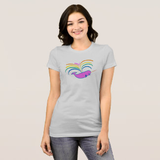 Atmospheric Narwhal - slightly smaller, higher up T-Shirt