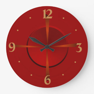 Atmospheric Red and Gold> Plain Wall Clock