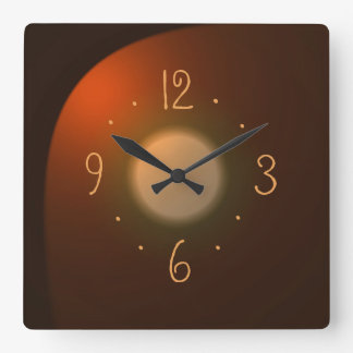 Atmospheric Tan with Gold Numerals> Plain Clocks