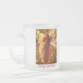 ATO Angel Tree Ornament Frosted Glass Mug