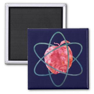 Atom Apple Square Magnet