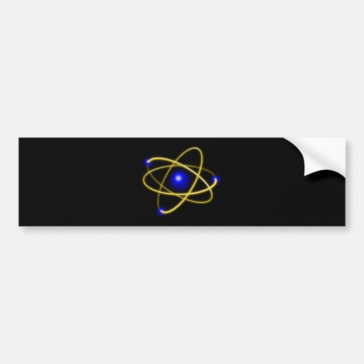 Atom atom , physics , particle , science , matter bumper stickers