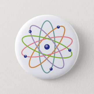 Atom Model 6 Cm Round Badge