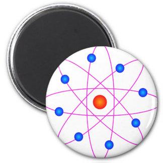 atom model vector clipart 6 cm round magnet
