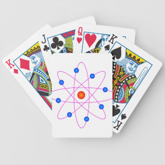 atom model vector clipart bicycle playing cards