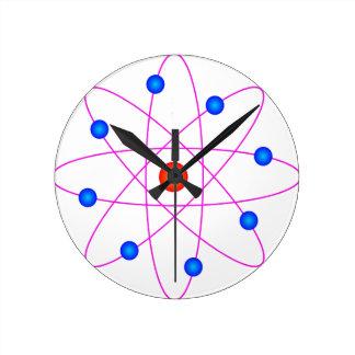 atom model vector clipart clock