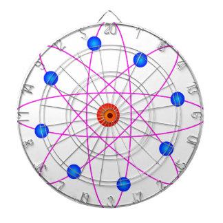 atom model vector clipart dart boards