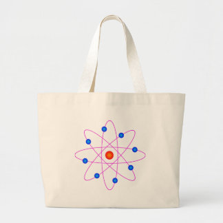 atom model vector clipart large tote bag