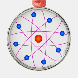 atom model vector clipart metal ornament