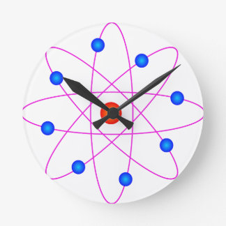atom model vector clipart round clock