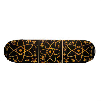 ATOM NUCLEAS n CHINESE CHARACTORS 18.4 Cm Mini Skateboard Deck