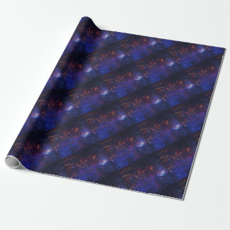 Atom Pattern Wrapping Paper