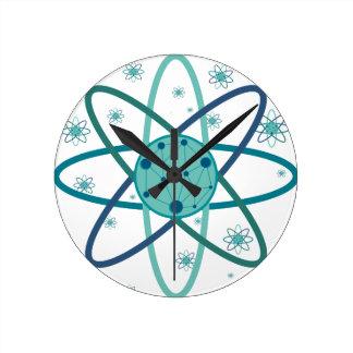 Atom Round Clock