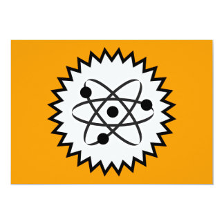 ATOM SCIENCE NUCLEAR LIFE CELL GRAPHICS LOGO ICON 13 CM X 18 CM INVITATION CARD