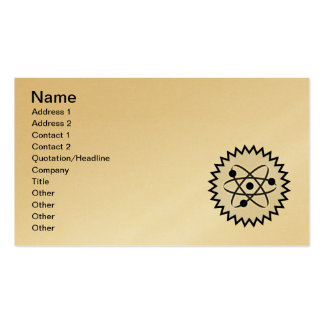ATOM SCIENCE NUCLEAR LIFE CELL GRAPHICS LOGO ICON Double-Sided STANDARD BUSINESS CARDS (Pack OF 100)
