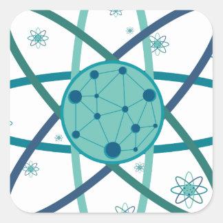 Atom Square Sticker