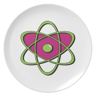 Atom Symbol Dinner Plates