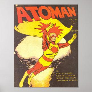 Atoman vintage comics poster