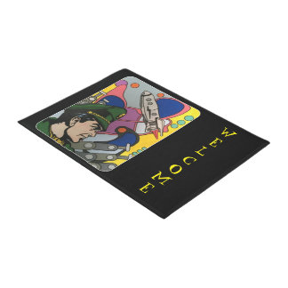 Atomic Abstract the Rocket Captain painting on a Doormat