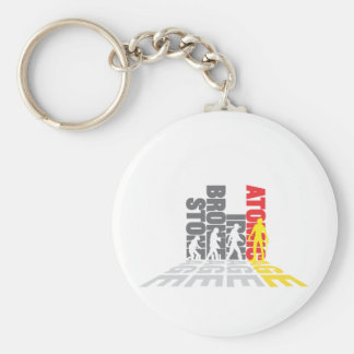 Atomic age basic round button key ring