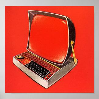 Atomic Age Futuristic Computer Typewriter Poster