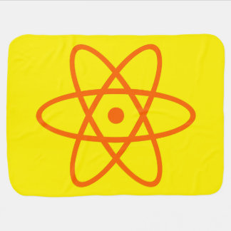 atomic baby blanket - orange & yellow