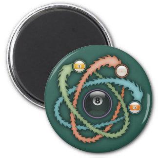 Atomic Billiards 6 Cm Round Magnet