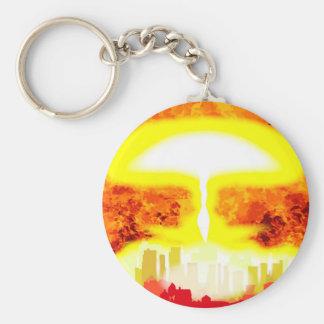 Atomic Bomb Heat Background Key Ring
