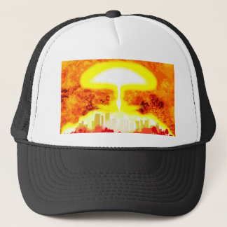 Atomic Bomb Heat Background Trucker Hat