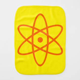 atomic burp cloth - orange & yellow