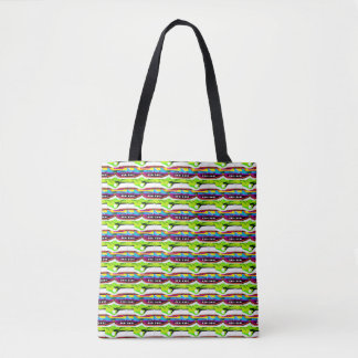 Atomic chains tote bag