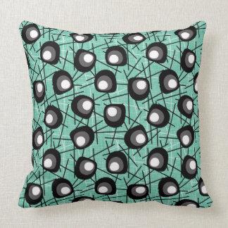 Atomic Circles | Mid-Century Modern | Aqua Cushion