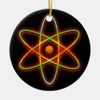 Atomic concept. ceramic ornament