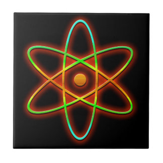 Atomic concept. ceramic tile