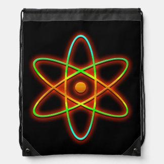 Atomic concept. drawstring bag