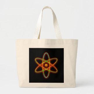 Atomic concept. large tote bag