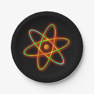Atomic concept. paper plate