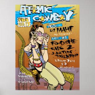 Atomic Cowboy Print/Poster