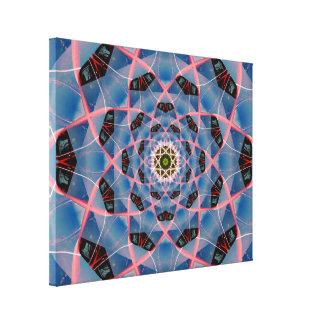 Atomic Electron Mandala Canvas Print