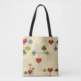 Atomic Era Card Suite Art Tote Bag